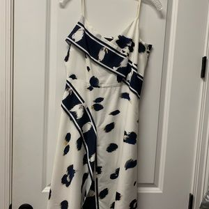 White and navy spring/summer dress
